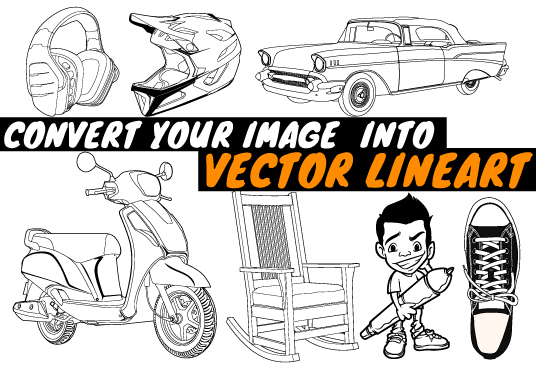 draw vector lineart, or convert your image to lineart