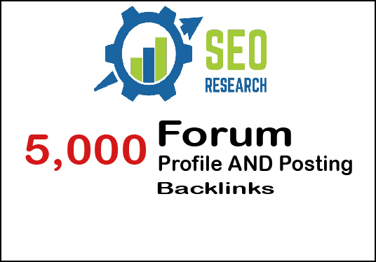 I will Provide 5000 Forum Backlinks Posting And Profile