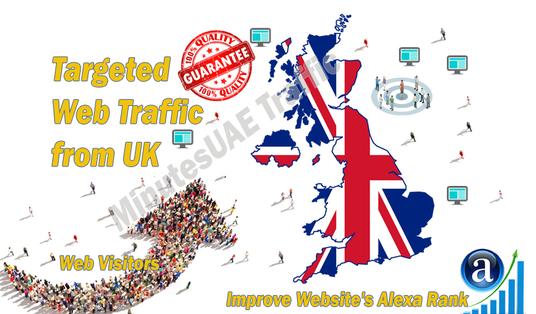 I will send British web visitors targeted organic traffic from UK
