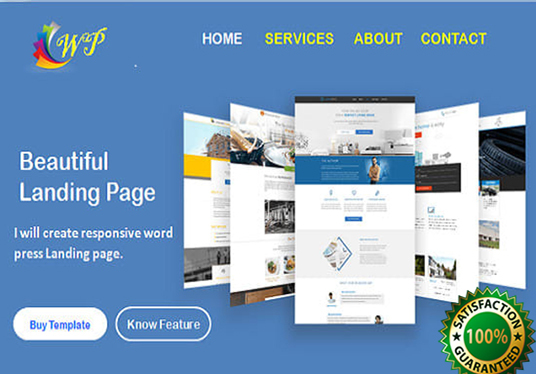 design high quality responsive landing page