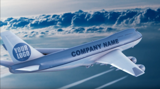 I will add your Logo and Text in this Airplane realistic video commercial animation