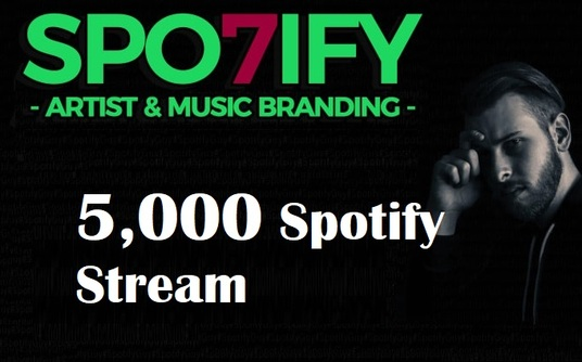 I will Do Spotify 5,000 HQ Stream  Promotion