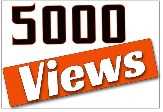 I will Give You High Quality 5,000+YOUTUBE views