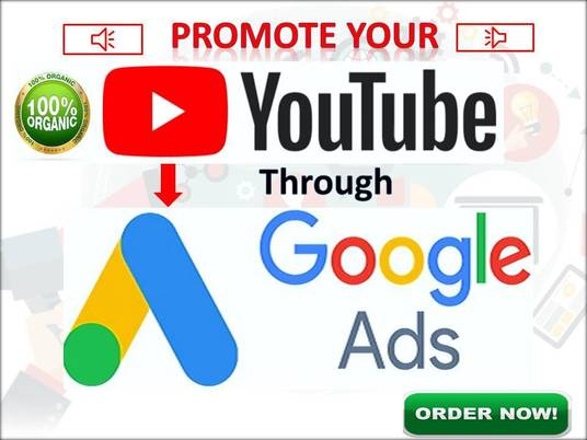I will do 1 month Youtube promotion through google Ads