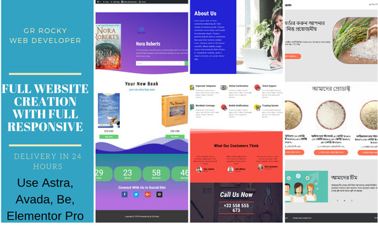 I will Create Full Responsive Wordpress Website Using Astra Or Avada And Elementor Pro