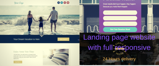 I will Design Your Landing Pages, Clickfunnls Or Salesfunnel Payment In Wordpress