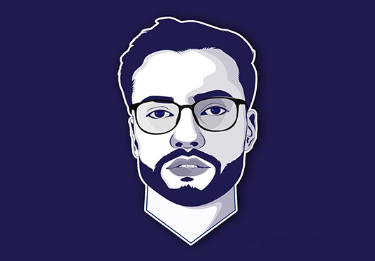 I will Draw Minimalist Vector Cartoon Portrait Of You
