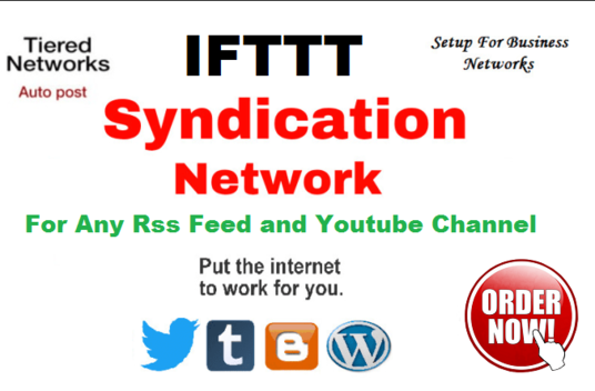 I will Create Marvellous IFTTT Syndication Network For Any Rss Feed Or Youtube
