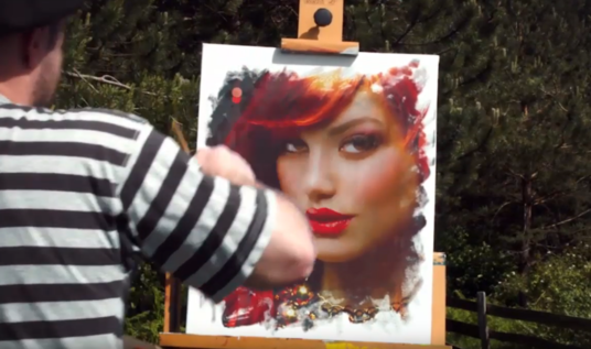 draw paint art Logo or Portrait commercial video for your social media brand
