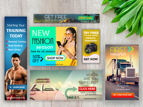 design high quality animated or static banner ads
