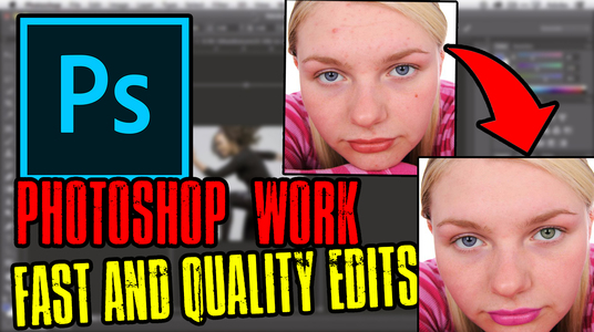 I will provide photoshop services, fast and quality assured