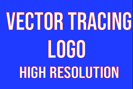 I will do vector tracing of logo