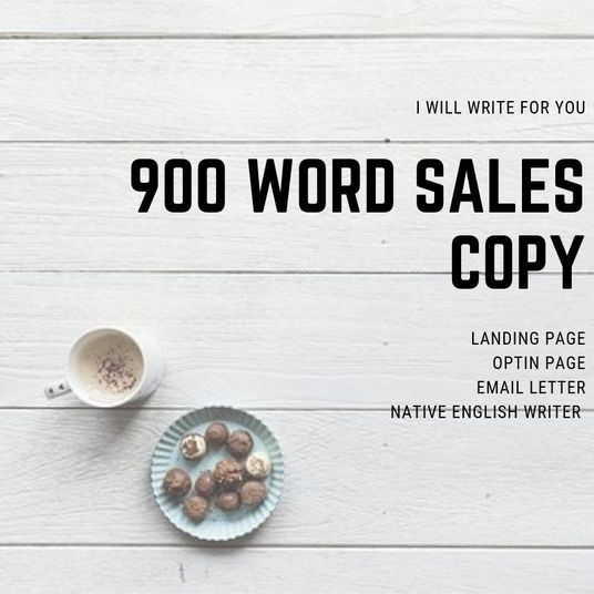 I will write persuasive copy for your landing page or email