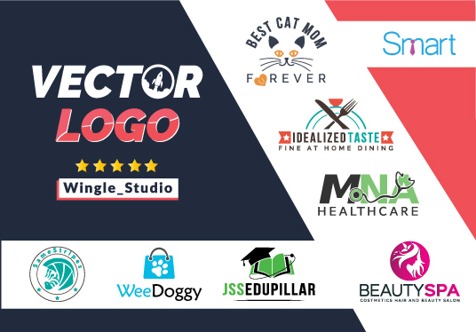 design vector logo with three initial concept and brand identity