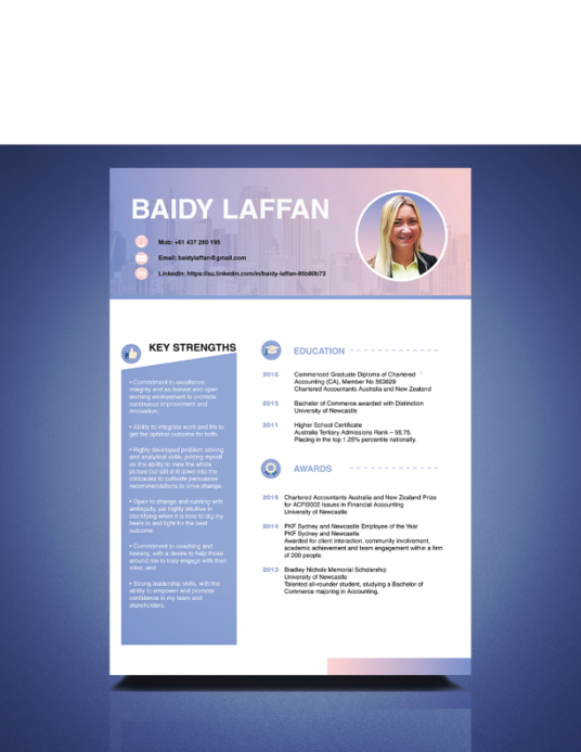 I will design CV or Resume