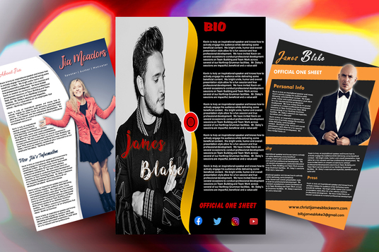 I will Design Professional Artist One Sheet in 24 Hours