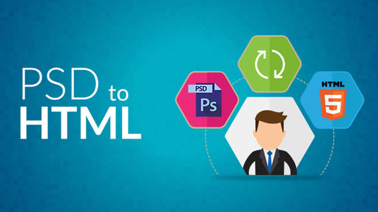 convert PSD to HTML responsive bootstrap, sketch to html