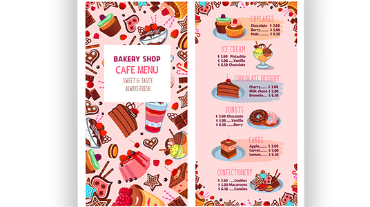 I will Design A Beautiful Restaurant Food Menu