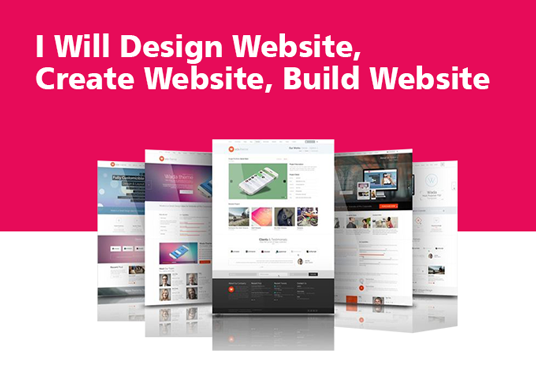 I will Design Website, Create Website, Build Website