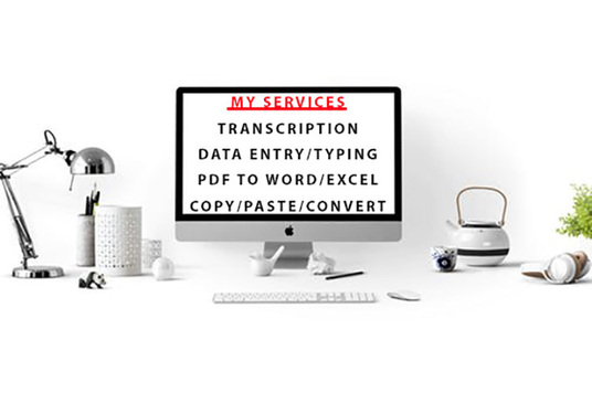 I will do any type of data entry work, convert file,  copy-paste and other administrative tasks