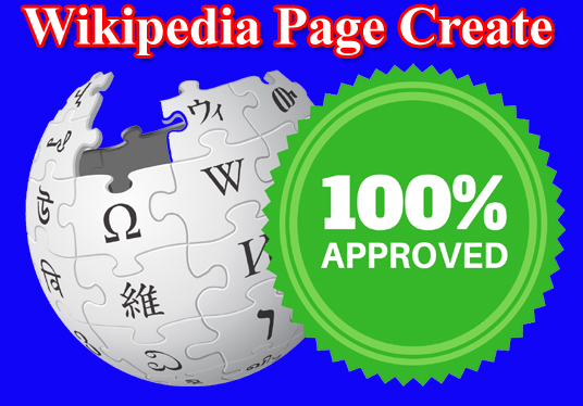 I will Create Wikipedia Page and edit