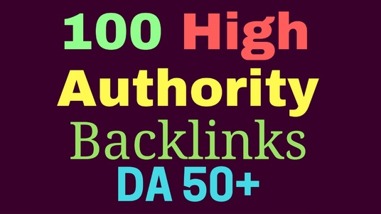 I will Create 100 High Domain Authority Backlinks