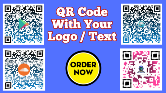Create Personalized Print Ready QR codes Or Barcodes With Your Logo