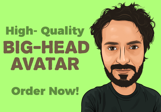 Draw Big Head Avatar With Fast Delivery