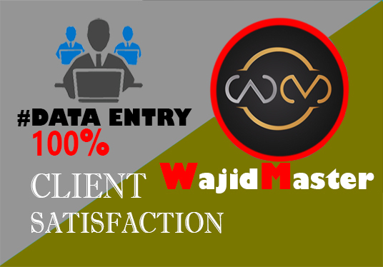 I will Complete All Data Entry Projects To The Highest Standard