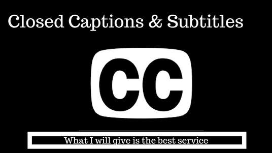 Add subtitles or closed caption to your video