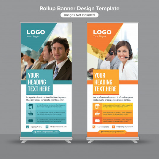 I will design corporate roll up banner with unlimited revision