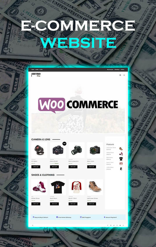I will create you a ecommerce website