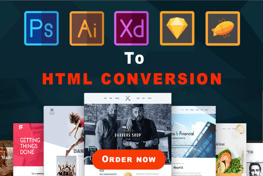 I will Convert Psd To Html, Xd To Html, Sketch to html with Bootstrap4