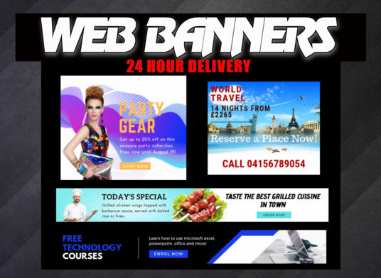 I will design a professional web banner advertisement