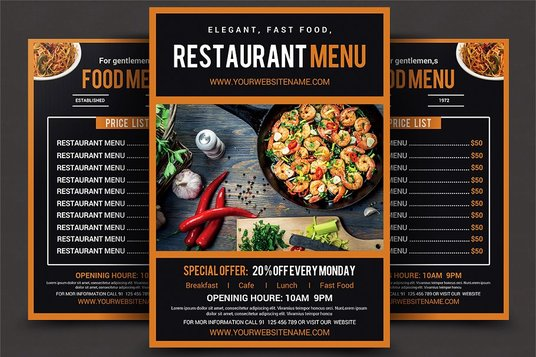 Design Modern Food And Restaurant Menu