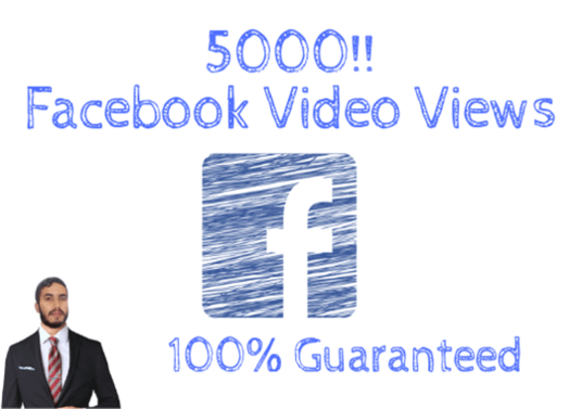 I will Generate 5000 Facebook Video Views Real Non-drop Guaranteed
