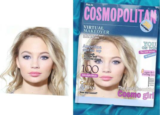 I will Place your face in a magazine,  newspaper, poster  or signboard to make you look famous