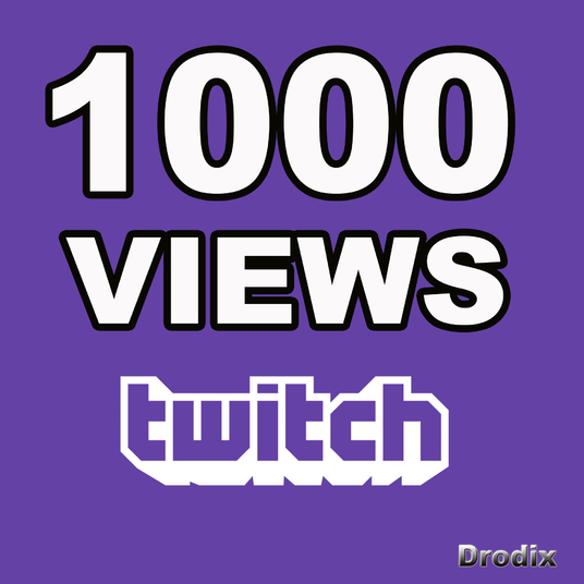 I will Provide 1000 Twitch Channel Views