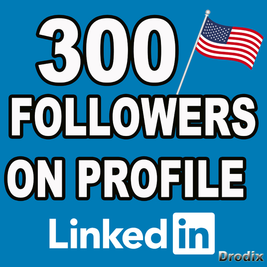 I will deliver 300 Linkedin Followers Profile - USA