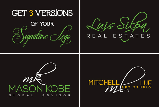 I will Create Signature Logo With free vector file