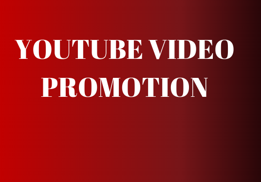 I will Do YouTube Video Promotion by A Real Audience