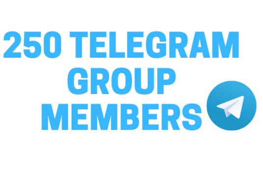 Add 250 Real High-Quality Telegram Group Members
