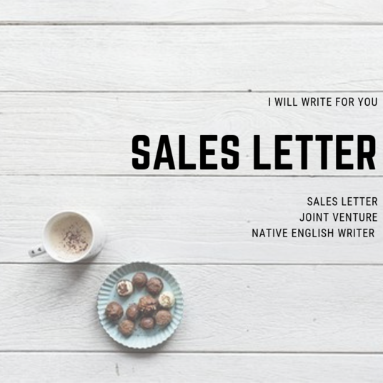 I will write persuasive copy for your sales letter email