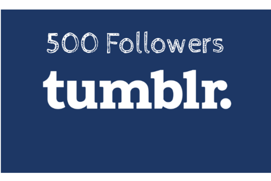 I will Add  500 Tumblr Followers High Quality