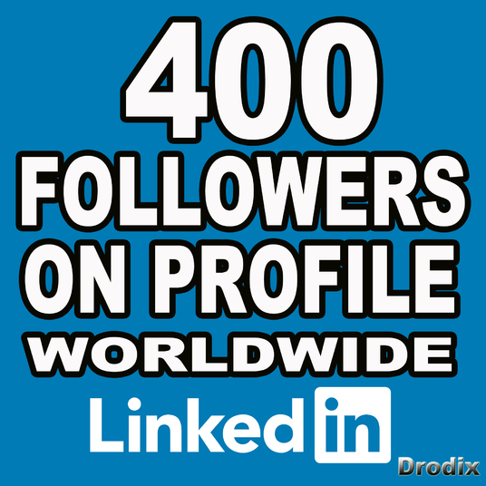 I will deliver 400 Linkedin Followers Profile - Worldwide