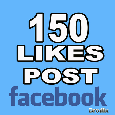 add 150 Likes to your  Post on Facebook Non Drop