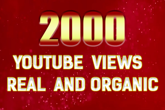 I will gives 2000 YouTube views and engagement
