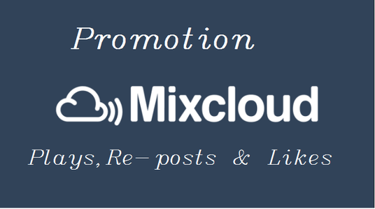 I will provide 2000 Mixcloud Plays, 100 Re-posts, 100 Favorites