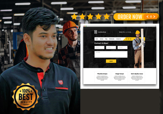 I will develop a construction website within 24 hours