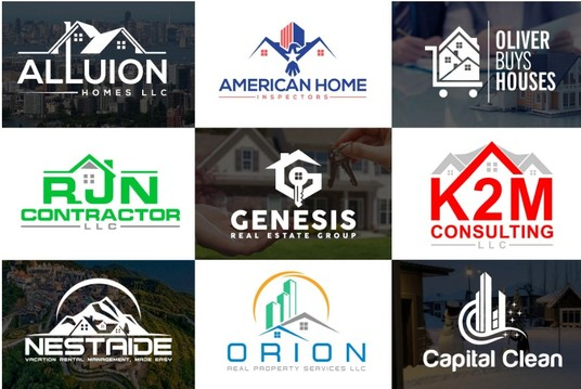 I will Design Unique Real Estate Property Construction Home Logo